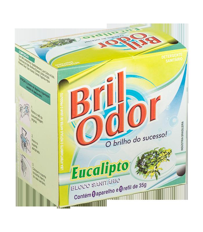REFIL BLOCO SANITÁRIO C/SUPORTE BRIL ODOR EUCALIPTO