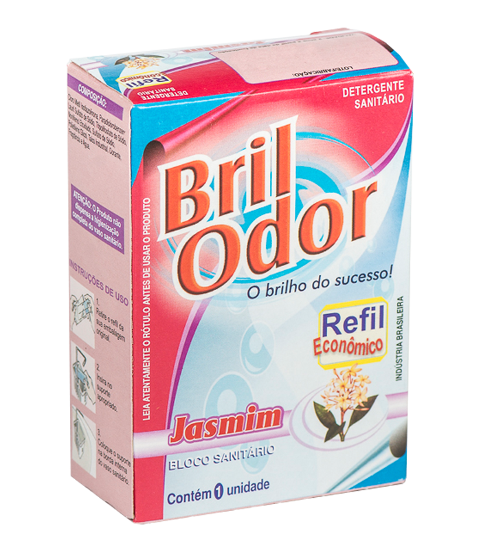 REFIL BLOCO SANITÁRIO BRIL ODOR JASMIM