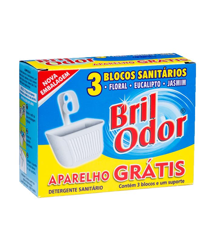 PROMOÇÃO 3 UN REFIL BLOCO SANITÁRIO BRIL ODOR GRÁTIS  SUPORTE